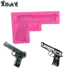 Gun Pistol Silicone Mold Mould for cake Icing decoration  M141