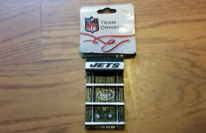 NY Official NFL New York Jets Christmas Holiday Sled Ornament NEW