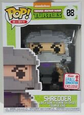 ON HAND 2017 FALL FCE NYCC Funko Pop 8-Bit Shredder #8 TMNT Ninja Turtles Figure