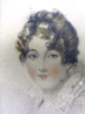"""Ecole anglaise du XIXème (1820) 2 gravures couleurs à l'eau forte """"2 femmes"""""""