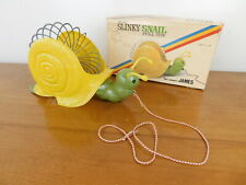 Original Slinky Snail Pull Toy #350 the name's Betty James Estate Hollidaysburg