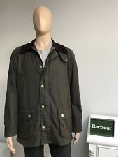 Barbour ASHBY Olive Green Men's Waxed Wax Cotton Jacket Coat XL 45.5 - £209