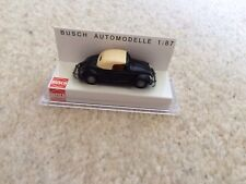 BUSCH VW BEETLE HEBMULLER CABRIO 46702 BLACK/BISCUIT 1/87 NEW BOXED RARE GERMANY