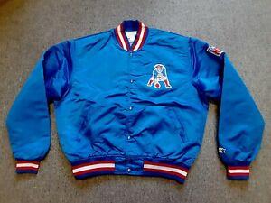 VTG 80s 90s Starter NFL New England Patriots Nylon Satin Bomber Jacket Large L