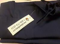 Salas Unisex Scrub Set Sz M Doctor/Nurses Navy V Neck top/draw string pants