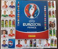 PANINI 2016 EURO 2016 STARTER PACK ALBUM + 100 ASSORTED STICKER NO DUPLICATES