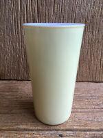 Hazel Atlas Platonite Milk Glass Pastel Tempo Yellow Tumbler Vintage
