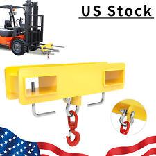 Forklift Lifting Hoist Swivel Hook Mobile Crane 4500 Lb Capacity Fork Extension