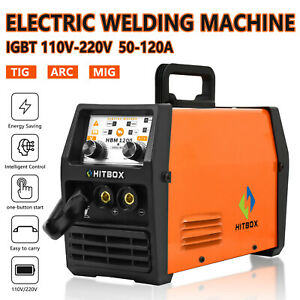 3in1 MIG Welder Inverter Gasless Flux Core 110V 220V ARC TIG MIG Welding Machine