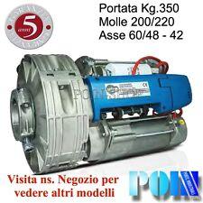 MOTORE SERRANDA AVVOLGIBILE GARAGE BIMOTORE 200/60, PORTATA 350 Kg. SARACINESCA