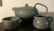 Russel Wright Oneida Coral 6 Cup Teapot, Creamer & Sugar