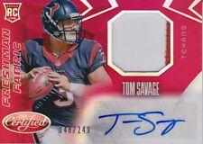2014 Certified Red #239 Tom Savage RC JSY au/249