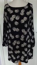 Scoop Neck Long Sleeve Geometric Tunic Dresses for Women