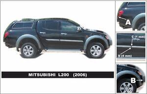 For Mitsubishi L200 4 door 2006-2011 Body Side Mouldings Door Protector Trim