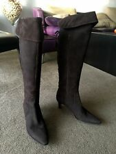 AUTH TANINO CRISCI CORDUROY/SUEDE OVER THE KNEE / KNEE HIGH BOOTS Sz 39 1/2