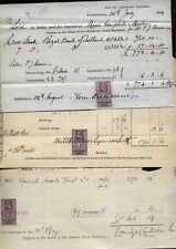 1903-34 REVENUE STAMPS on STOCKBROKERS purchase of Share receipts, Railways, etc