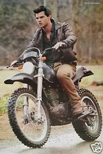 """TWILIGHT """"JACOB BLACK RIDING MOTORCYCLE"""" MOVIE POSTER FROM ASIA - Taylor Lautner"""