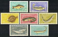 Romania 1960 Fish/Marine/Nature/Wildlife/Beluga/Carp 7v set (n32607)