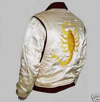 Drive Scorpion Ivory Satin Slim Fit Ryan Gosling Movie Jacket