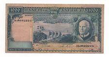 PORTUGAL ANGOLA 1000 ESCUDOS 1970 PICK 198 LOOK SCANS