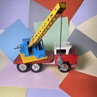 Vintage Triang Hi-way Hiways hi-lift crane truck large  pressed steel lorry