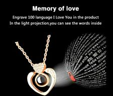 Lovers Gift Love Heart Rose Gold Silver Gifts for her Daughter Sister Aunt Nan