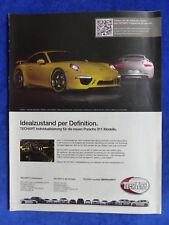 Techart Porsche 911 - Werbeanzeige Reklame Advertisement 2012 __ (168-2