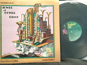 "jazz/funk SHEFFIELD LAB DIRECT DISC LTD.""TOWER OF POWER DIRECT"" LP INSERT BOOK"