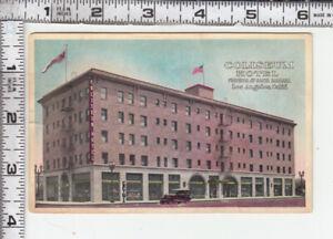 "Los Angeles - ""COLISEUM HOTEL FIGUEROA AT SANTA BARBARA"" - Car  - Street Scene"