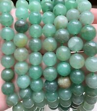 "15"" Strand Green Jade Gemstone Smooth Rounds 10mm, Approx 38 Beads"