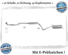 Auspuffanlage Seat Ibiza IV (6L1) 1.4 16V Bj. 02-06 Auspuff Dichtung Schelle
