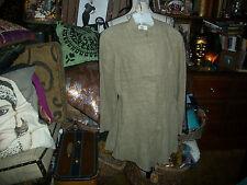 ASTUCES FRANCE Sharp Khaki Linen Blend Jacket Size T2
