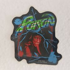 POISON RARE ORIGINAL VINTAGE VINYL STICKERS DECAL ROCK ROLL MUSIC