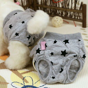 Female Pet Puppy Dog Hygiene in Season Sanitary Lace Underwear Diaper Pants XS-L