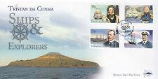 Tristan da Cunha 2014 FDC Ships & Explorers 4v Set Cover Weddell Macklin Nares