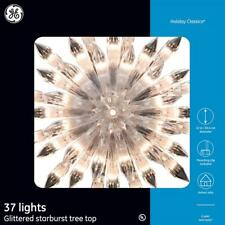 GE Holiday Classics 12 inch 37 LED Lights Warm White Starburst Tree Topper