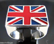Union Jack Flag Ring PUNK ROCK .925 Sterling Silver RG0131/S/E