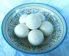 6 pack of 100% Natural NZ Wool Organic Dryer Balls - Save time and Money!