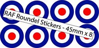 8 Mod RAF Target Roundel Scooter Vinyl Decal stickers Cars Vans