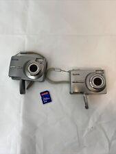 2 Kodak EasyShare C813 8.2MP & C713 Digital Camera - Silver and 256mb card