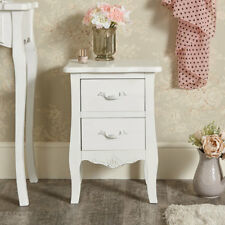 White bedside table chest vintage French chic bedroom furniture display storage