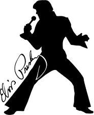 Elvis Il Re Rock N Roll Silhouette Grafica in Vinile Muro ARTE Auto Adesivo Finestra