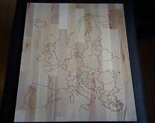 Wandbild Europa 50x60cm Karte Buche Leimholzplatte CNC gefräst