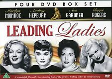LEADING LADIES - 4 DVD BOX SET, MONROE, HEPBURN, GARDNER & ROGERS, CLASSIC FILMS