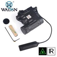 WADSN Tactical LED Flashlight Airsoft IR And GREEN Laser DBAL-MKII - BLACK