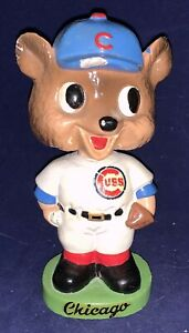 Vintage 1963 - 1965 Chicago Cubs Green Base Mascot Nodder Bobblehead Early Old