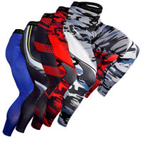Mens Sports Gym Long Pants Compression Trainer Basketball Under Tight Base Layer