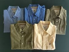 5 x Hollister men's Long Sleeved Cotton Shirts - Size M