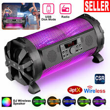 30W LED Portable Speaker Indoor/Outdoor Wireless Stereo Bass FM Mic APP Control