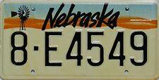 Nebraska   License Plate, Original Kennzeichen USA  8-E4649*  ORIGINALFOTO